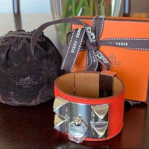 Auth NEW Hermès Vermillion Red Orange CDC Bracelet